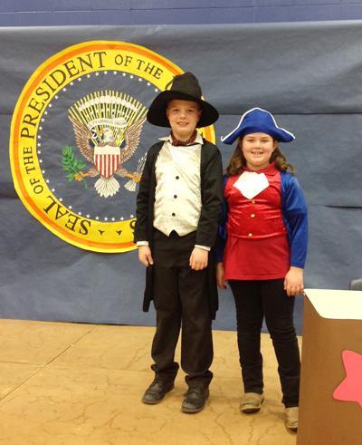 Second-graders show patriotism