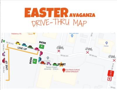 Four Rivers Cultural Center debuts 'reverse parade' for Easter
