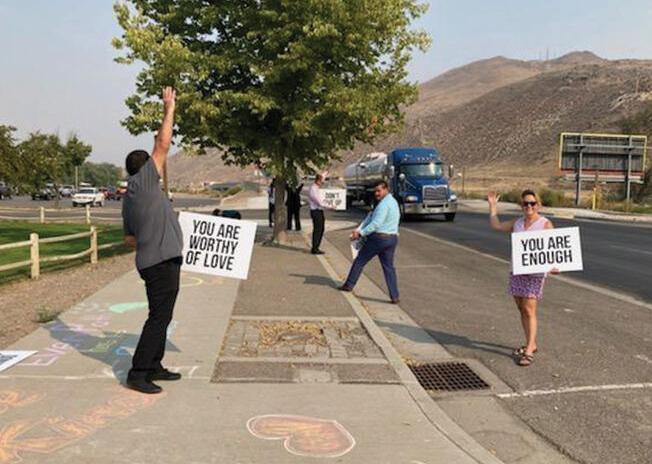 Malheur County Juvenile Department members spread hope