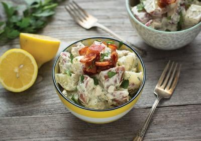This potato salad incorporates homemade ranch dressing ingredients