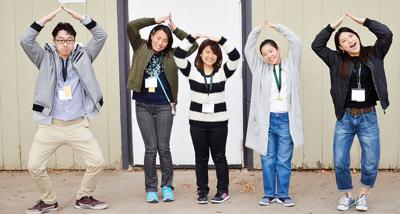 Whirlwind trip for 5 Japanese students