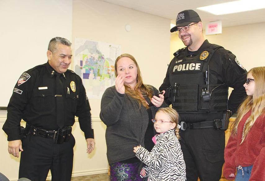 Welcome aboard: Ontario Police Department swears in new officers