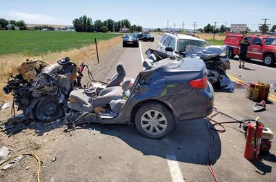3 from Weiser die as result of head-on crash