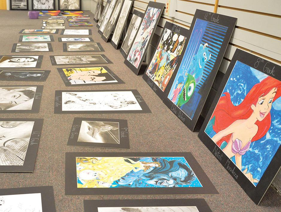 Works of art from more than 100 local students ready for display