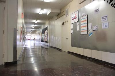 Ontario High School empty hall
