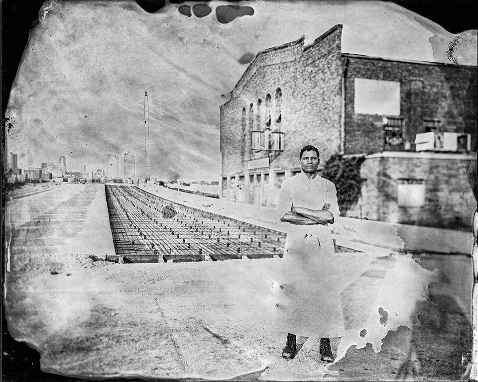 Tintype photographs of traumatic sites