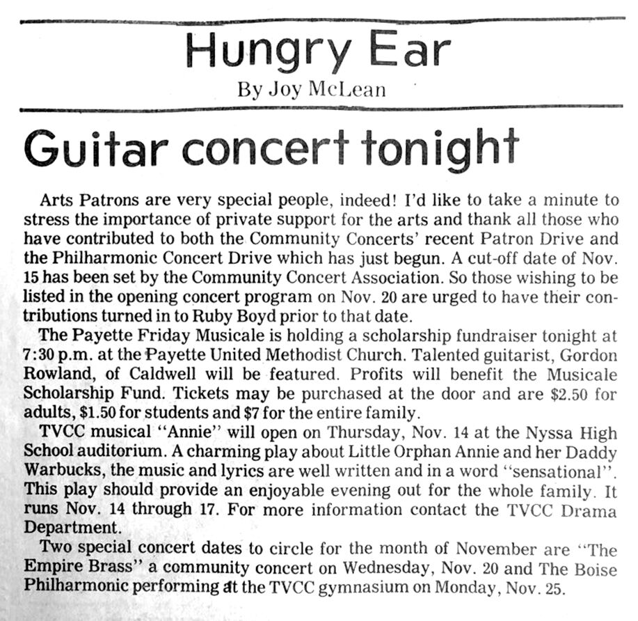 'The Hungry Ear'