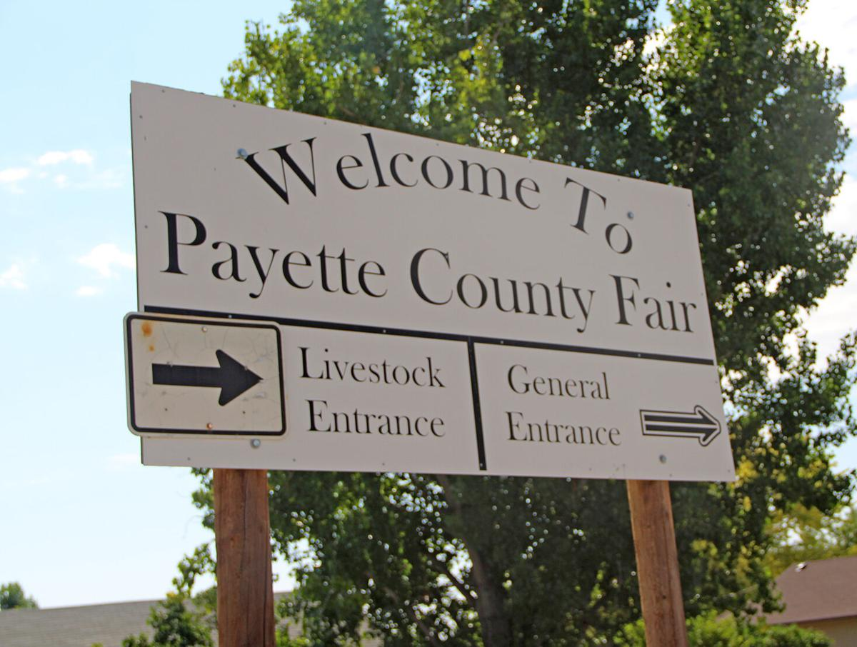 Payette County Fair sign