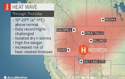 Another heat dome in the West producing dangerous temperatures