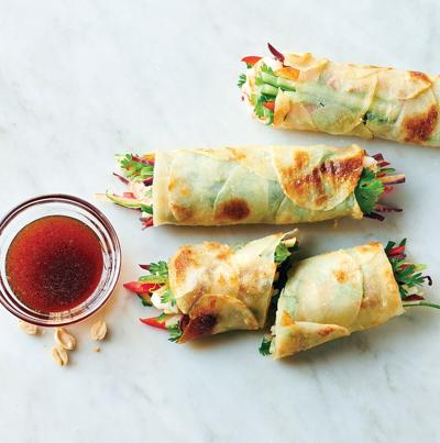 Try spring rolls that are wrapped with potatoes
