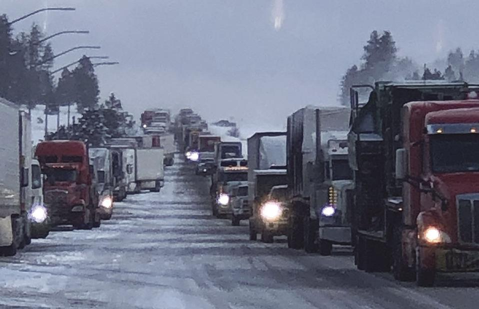 Motorists heading west of Ontario should expect delays