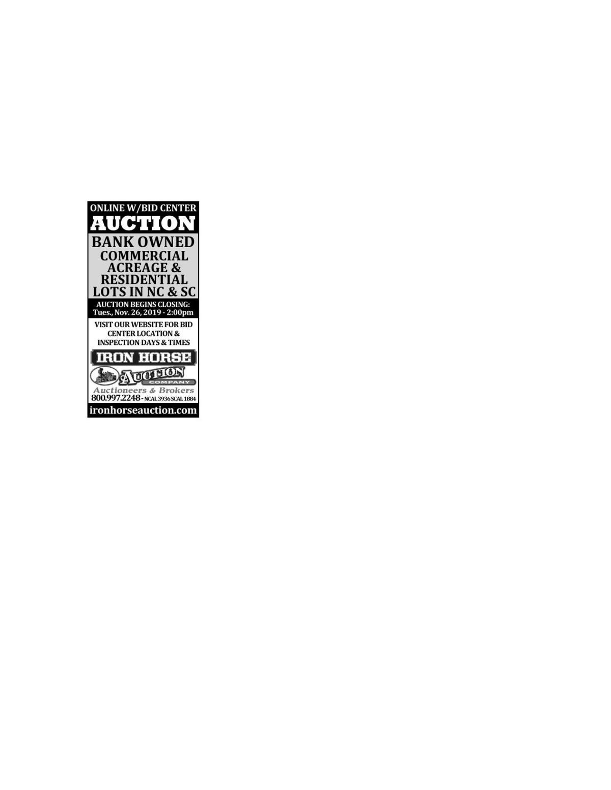 Iron Horse Auction
