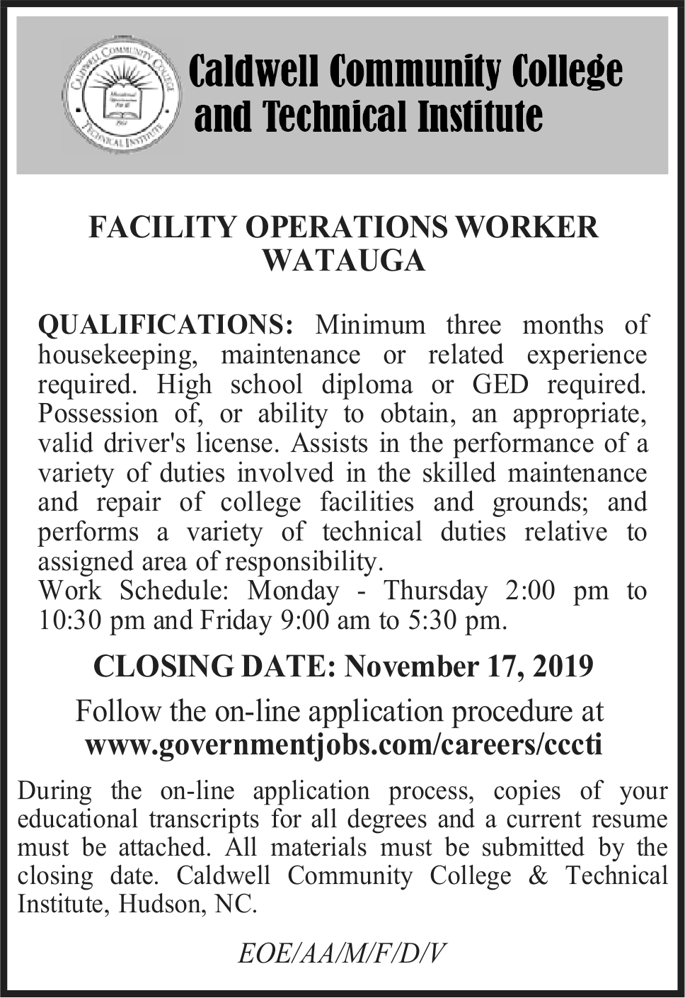 Facility Operations Worker