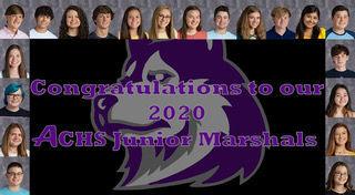 ACHS 2020 Junior Marshals