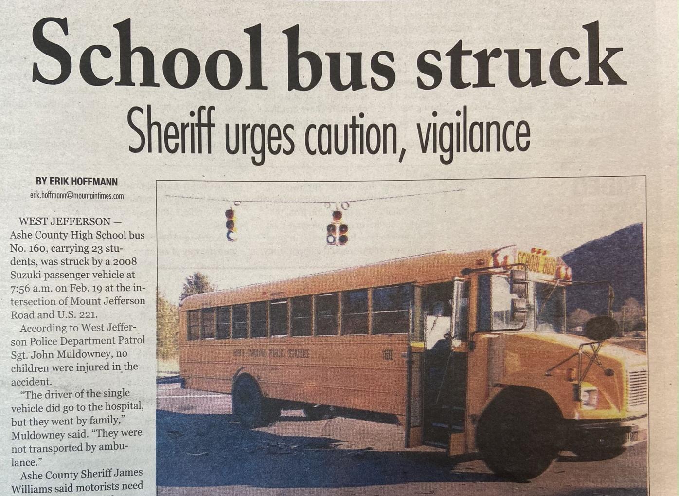 ashe school bus wreck feb. 19 2016