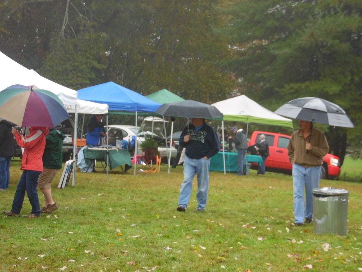 rainy day at festival