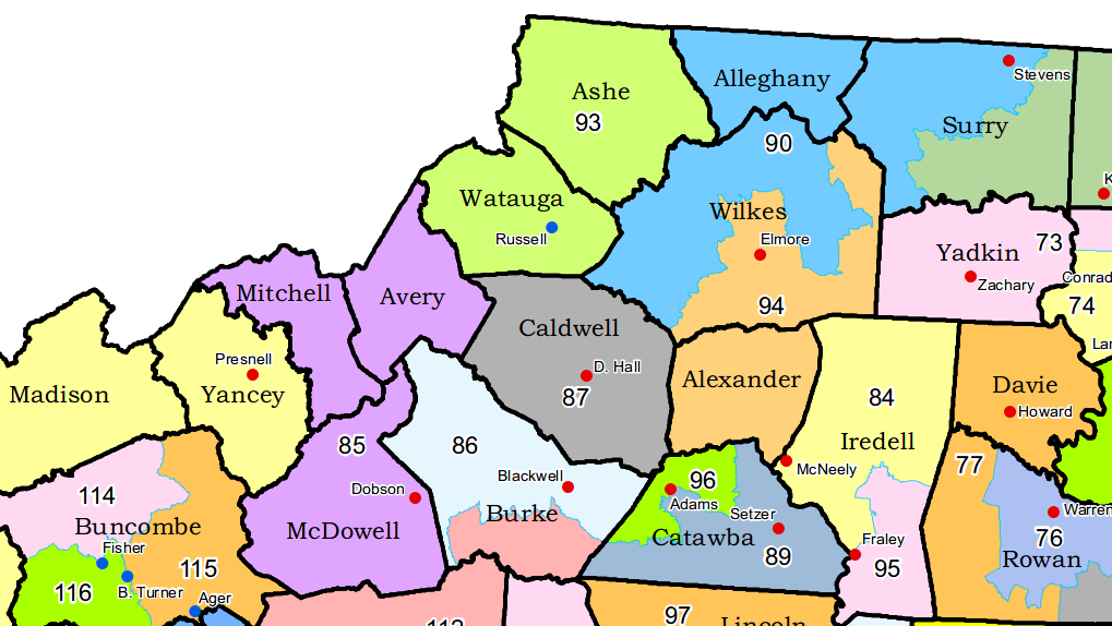 Northwest NC state House district