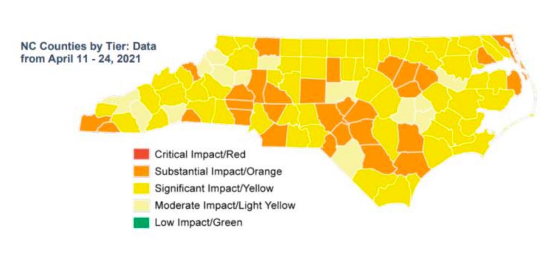 NC Covid map 5/04