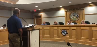 Houck at Board of Commissioners