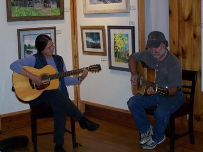 Wayne and Helen in Gallery