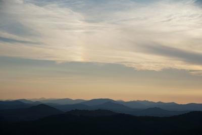 Sunset over Ashe County from Mountains to Sea Trail