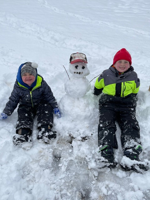 Ashe County snow 1/8 18