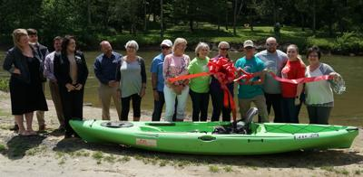 Zaloo's Canoes ribbon cutting