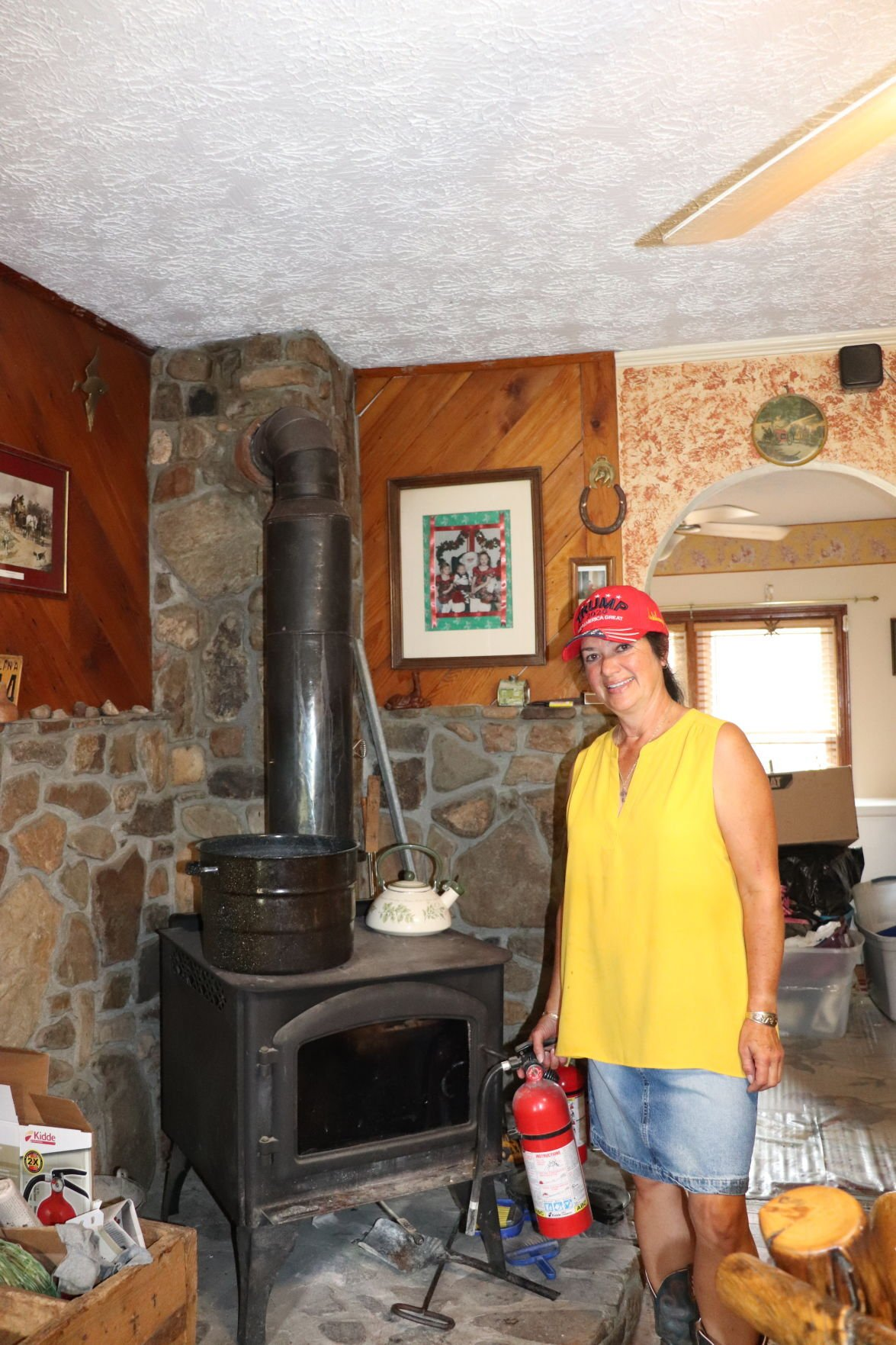 Tomme Ann with stove