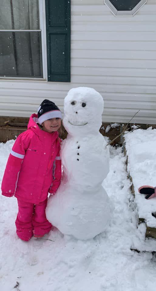 Ashe County snow 1/8 6