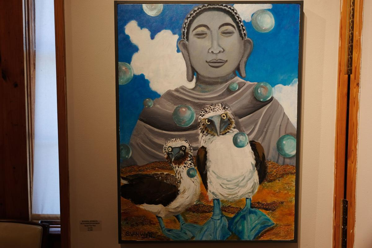 'Buddha, Bubbles, Blue-footed Boobies' by Susan Van Wyk.
