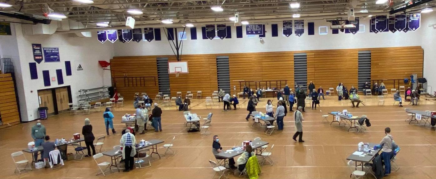 ACHS gym COVID-19 vaccinations