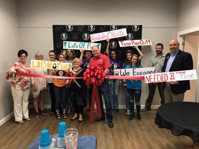 Unlock It Escape Room ribbon cutting