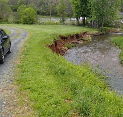 Costly streambank damage