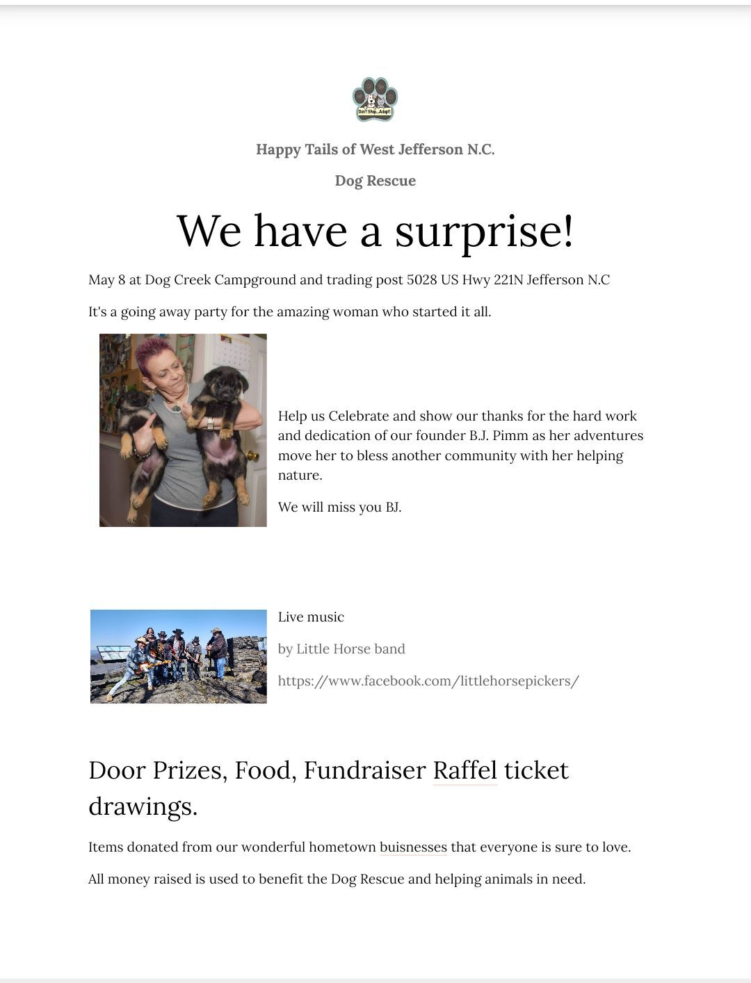 Happy tails flyer 2