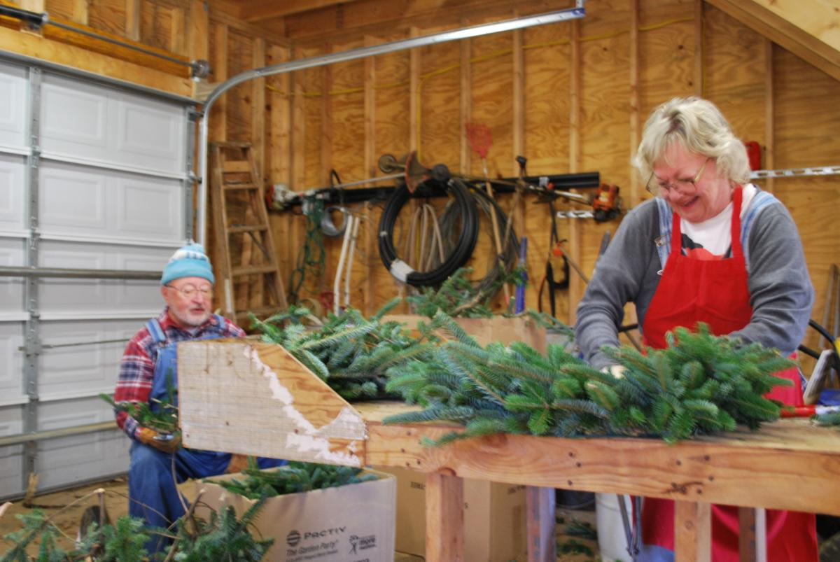 Barlows making wreaths