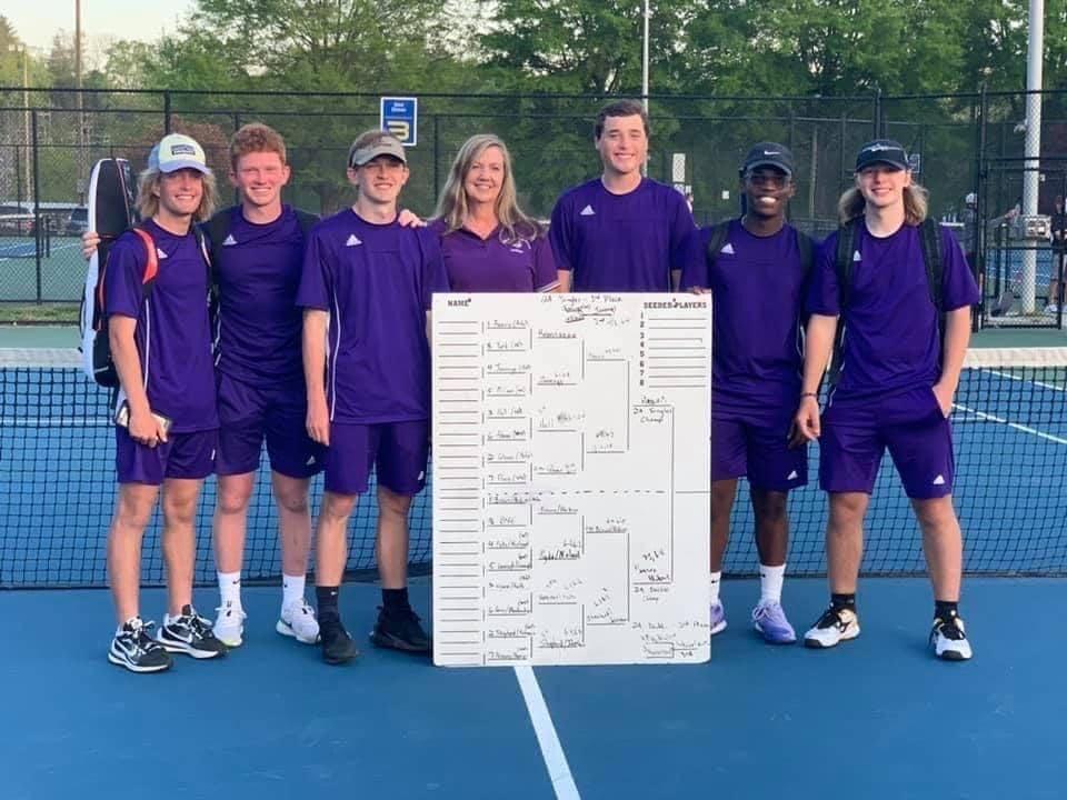 Boys tennis team April 26