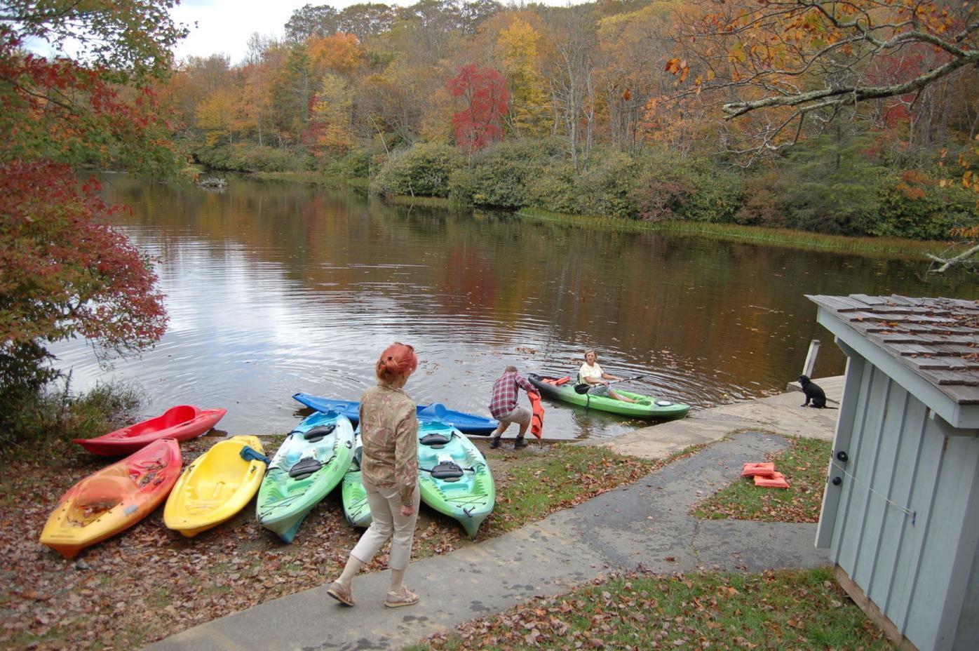 Rental kayaks at Julian Price Lake