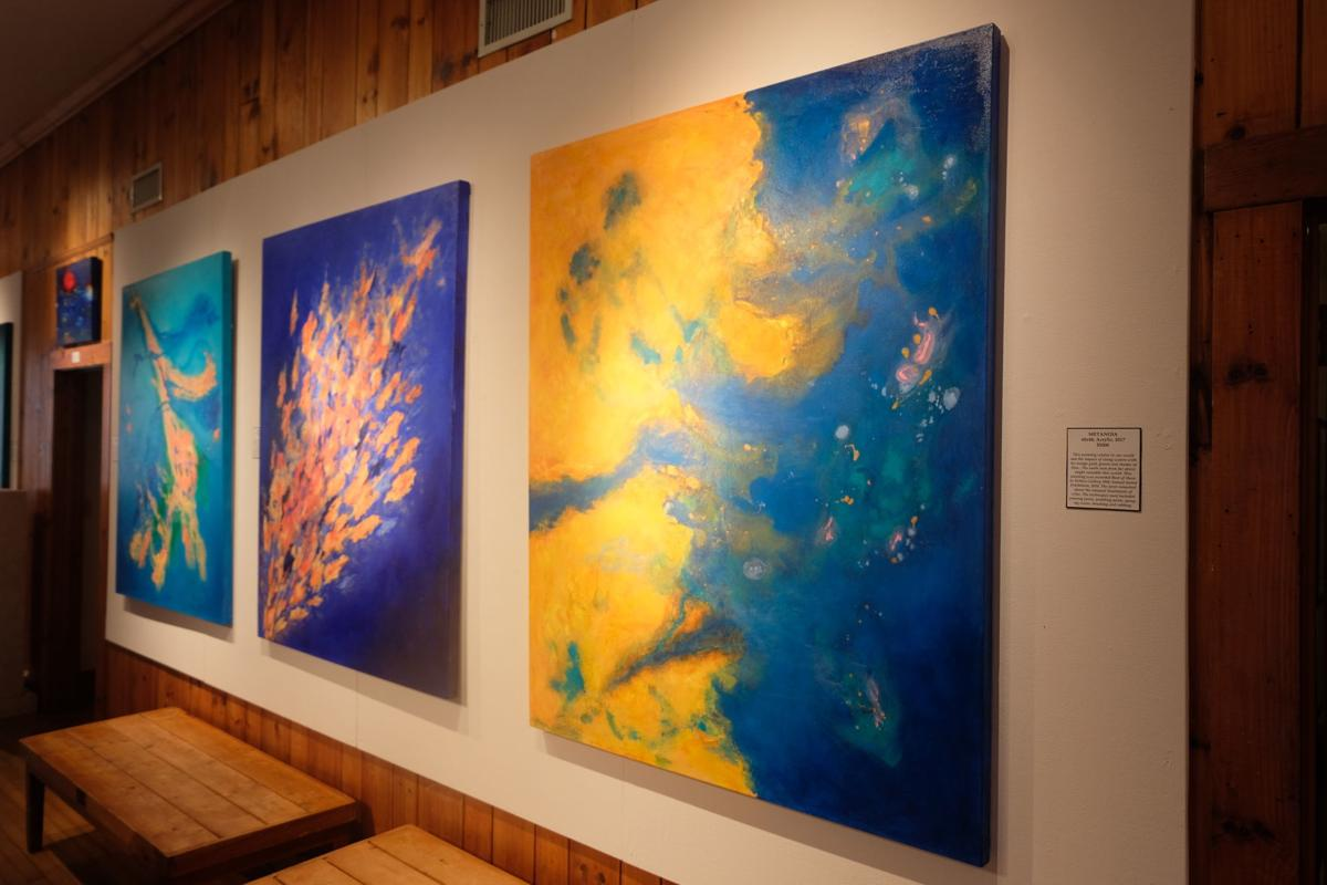 'Metanoia,' 'Outburst' and 'Fusion' by Susan Jespersen.