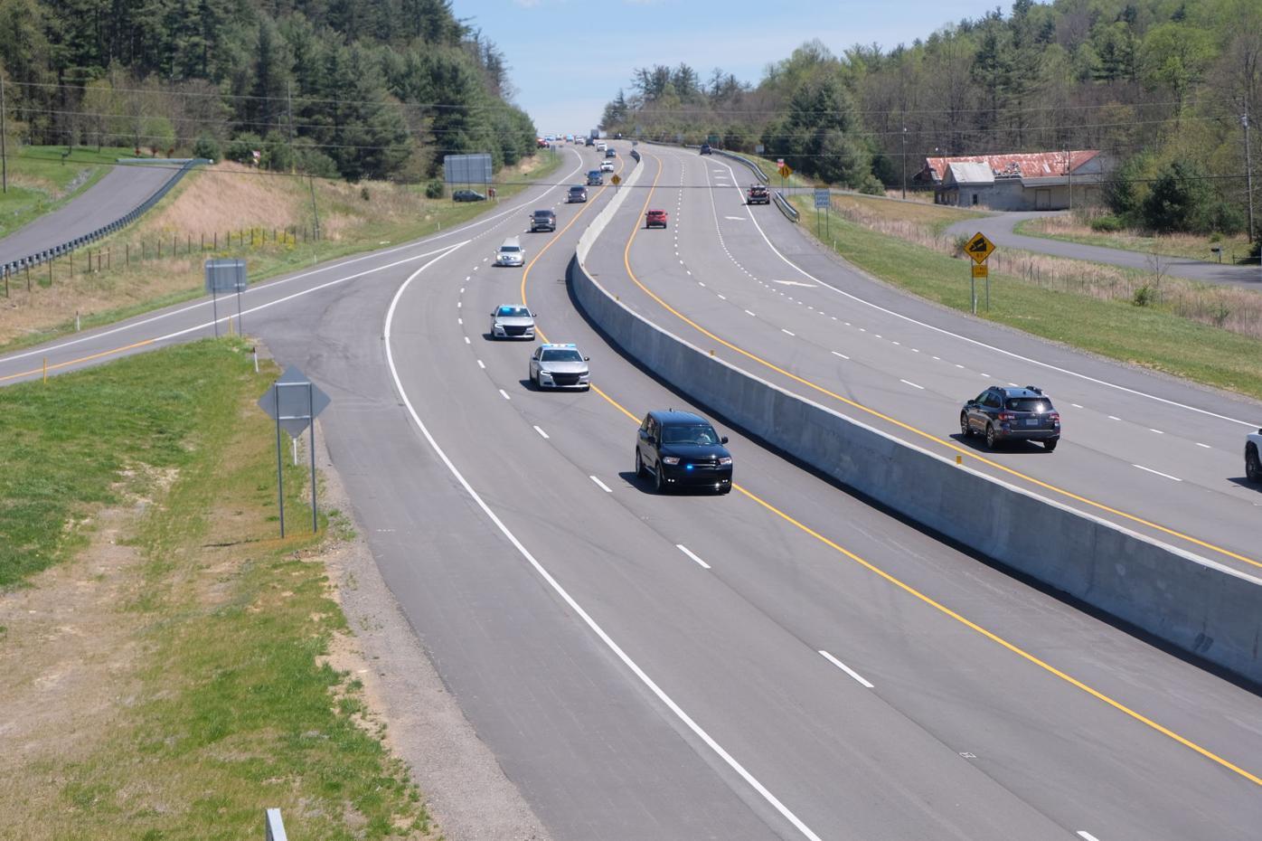 Motorcade rides into Boone