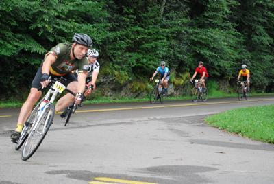 Blue Ridge Brutal bikers turning
