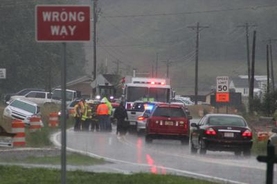 Two-vehicle wreck closes U.S. 221