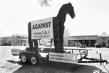 Trojan horse on Main Street