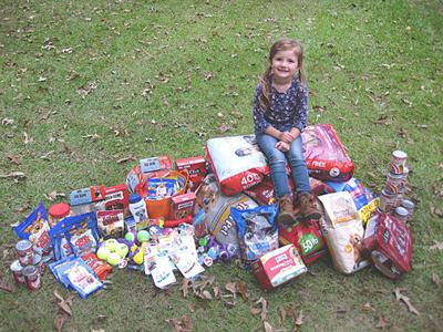 For the dogs: Crossett girl donates birthday to pound