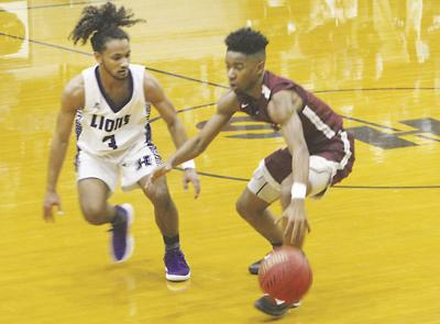 Lions battle past Eagles on basketball court