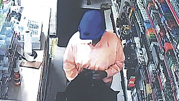 Suspect sought in Minit Shop robbery