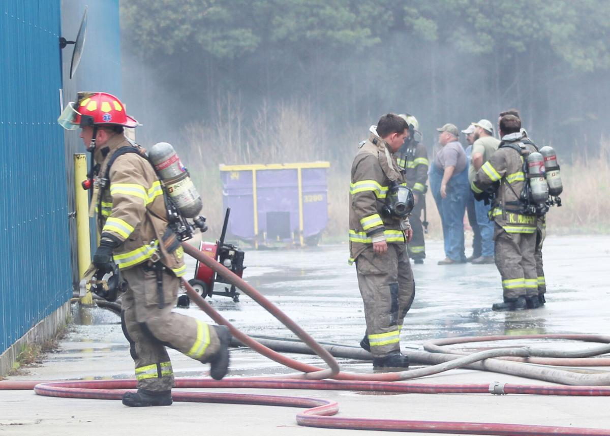 CFD responds to fire at Alvar Resins - ground attack