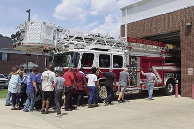 Crossett Fire Department dedicates new ladder truck
