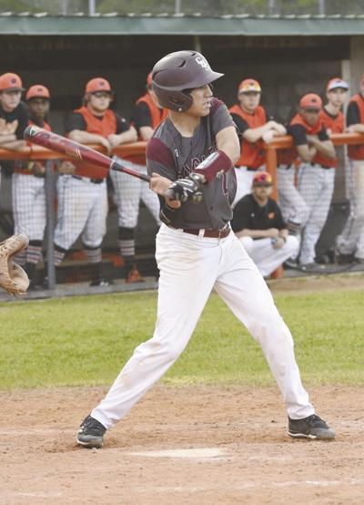 Crossett Eagle Griffin Courson at bat