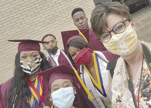 Graduates gather for selfie