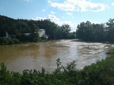 Hocking River falls
